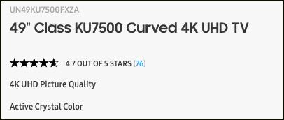 Samsung UN49KU7500FXZA Best Price