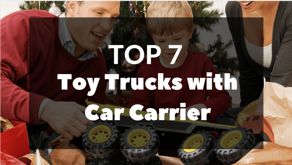 Toy Trucks with Car Carrier