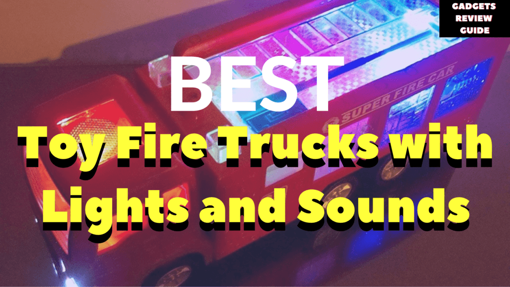 Toy Fire Trucks with Lights and Sounds